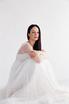 Белое пышное платье в пол с корсетом и чашками в прокат и аренду в Киеве. Фото 1