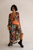 Шелковое платье длины миди с фантазийным принтом в прокат и аренду в Киеве. Фото 2