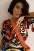 Шелковое платье длины миди с фантазийным принтом в прокат и аренду в Киеве. Фото 6