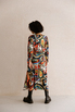 Шелковое платье длины миди с фантазийным принтом в прокат и аренду в Киеве. Фото 4