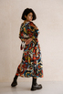 Шелковое платье длины миди с фантазийным принтом в прокат и аренду в Киеве. Фото 5