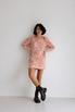 Платье из жаккарда с принтом цветы розового цвета цвета длины мини в прокат и аренду в Киеве. Фото 3