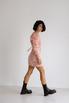 Платье из жаккарда с принтом цветы розового цвета цвета длины мини в прокат и аренду в Киеве. Фото 5