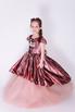 Детское розовое платье в пайетки с бантом в прокат и аренду в Киеве. Фото 3