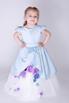 Детское голубое платье с цветочками в прокат и аренду в Киеве. Фото 3