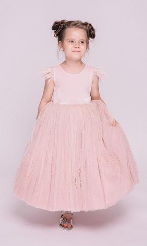 Дитяче рожеве плаття з намистинами в прокат и oренду в Киiвi. Фото 1