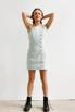 Джинсовое платье мини с ассиметричным верхом в прокат и аренду в Киеве. Фото 2
