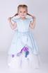 Детское голубое платье с цветочками в прокат и аренду в Киеве. Фото 1