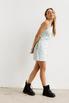 Джинсовое платье мини с ассиметричным верхом в прокат и аренду в Киеве. Фото 3