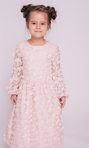 Дитяче рожеве плаття з аплікацією в прокат и oренду в Киiвi. Фото 2