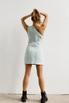 Джинсовое платье мини с ассиметричным верхом в прокат и аренду в Киеве. Фото 4