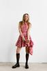 Платье в красную клетку с оборками и асиметричным низом в прокат и аренду в Киеве. Фото 2