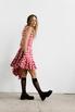 Платье в красную клетку с оборками и асиметричным низом в прокат и аренду в Киеве. Фото 3