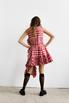 Платье в красную клетку с оборками и асиметричным низом в прокат и аренду в Киеве. Фото 5