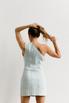 Джинсовое платье мини с ассиметричным верхом в прокат и аренду в Киеве. Фото 5