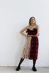 Платье в клетку с оборками из бежевой сетки в прокат и аренду в Киеве. Фото 2