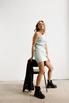 Джинсовое платье мини с ассиметричным верхом в прокат и аренду в Киеве. Фото 1