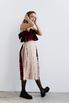 Платье в клетку с оборками из бежевой сетки в прокат и аренду в Киеве. Фото 3