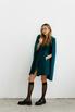 Зеленое платье мини с кейпом в прокат и аренду в Киеве. Фото 4