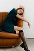 Зеленое платье мини с кейпом в прокат и аренду в Киеве. Фото 7