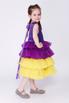 Детское фиолетовое платье с желтой юбкой в прокат и аренду в Киеве. Фото 4