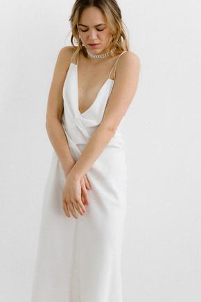 Біле плаття комбінація з тенсела в прокат и oренду в Киiвi. Фото 2