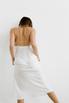 Белое платье комбинация из тенсела в прокат и аренду в Киеве. Фото 5