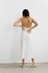 Белое платье комбинация из тенсела в прокат и аренду в Киеве. Фото 6