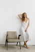 Белое платье комбинация из тенсела в прокат и аренду в Киеве. Фото 9