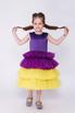 Детское фиолетовое платье с желтой юбкой в прокат и аренду в Киеве. Фото 3