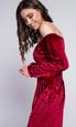 Красное бархатное платье со спущенными плечами в прокат и аренду в Киеве, Одессе, Харькове. Фото 3