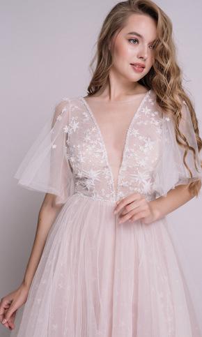 Рожева пишна сукня в підлогу з зірками в прокат и oренду в Киiвi. Фото 2