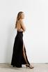 Платье черного цвета с разрезами на бретелях в прокат и аренду в Киеве. Фото 5