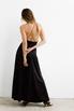 Платье черного цвета с разрезами на бретелях в прокат и аренду в Киеве. Фото 6