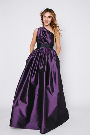 Фіолетова сукню в підлогу на одне плече в прокат и oренду в Киiвi. Фото 1