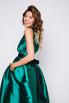 Зеленое платье в пол на одно плечо в прокат и аренду в Киеве. Фото 2