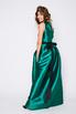 Зеленое платье в пол на одно плечо в прокат и аренду в Киеве. Фото 3