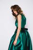 Зеленое платье в пол на одно плечо в прокат и аренду в Киеве. Фото 4