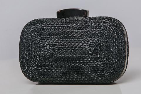Клатч черный рельефный