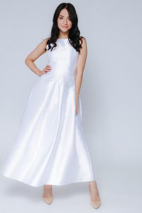 Біле плаття міді з пишною спідницею і відкритими плечима в прокат и oренду в Киiвi. Фото 2