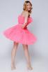 Ярко- розовое платье мини из фатина в прокат и аренду в Киеве. Фото 4