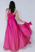 Пурпурное платье в пол на тонких бретельках в прокат и аренду в Киеве. Фото 2