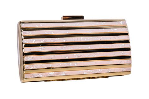 Золотой клатч с перламутровыми вставками