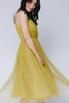 Платье миди оливкового цвета на бретелях в прокат и аренду в Киеве. Фото 2