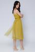 Платье миди оливкового цвета на бретелях в прокат и аренду в Киеве. Фото 4