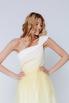 Белое платье макси с лимонным градиентом на одно плечо в прокат и аренду в Киеве, Одессе, Харькове. Фото 2