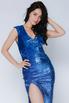 Синие платье макси в пайетках в прокат и аренду в Киеве. Фото 3