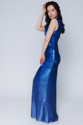 Синє плаття максі в пайєтках в прокат и oренду в Киiвi. Фото 2