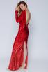 Красное платье в пайетках с длинным рукавом в прокат и аренду в Киеве. Фото 4
