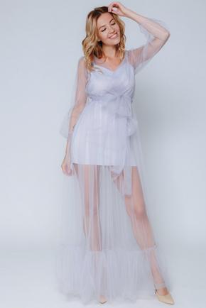 Комбіноване бузкове плаття в прокат и oренду в Киiвi. Фото 1